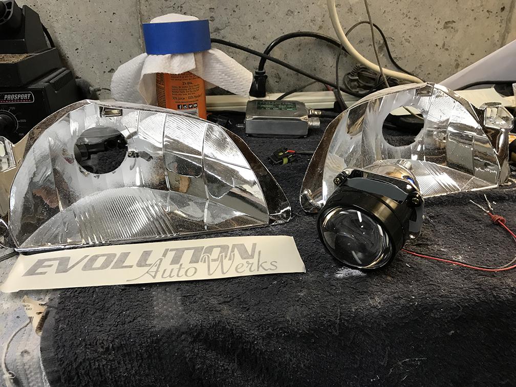 2002 Nissan Sentra SER Spec V Headlight Retrofit